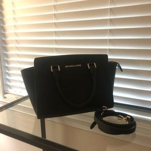 "Michael Kors ""Selma"" Medium Satcehl"